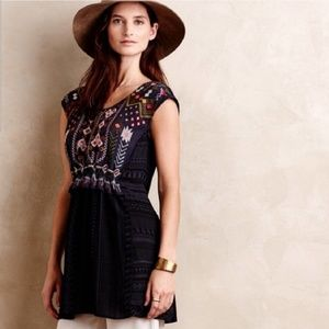 Anthropologie One September EmbroideredTop S